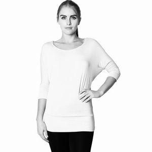 Zenana Outfitters White Dolman Kimono Blouse